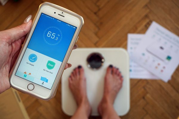 Связь весов с телефоном