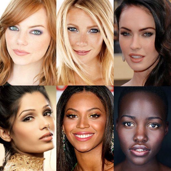 Девушки с разным типом волос