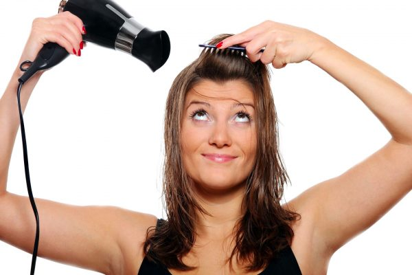 Сушка волос с тяжелым феном