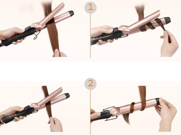 Два способа завивки на классические щипцы