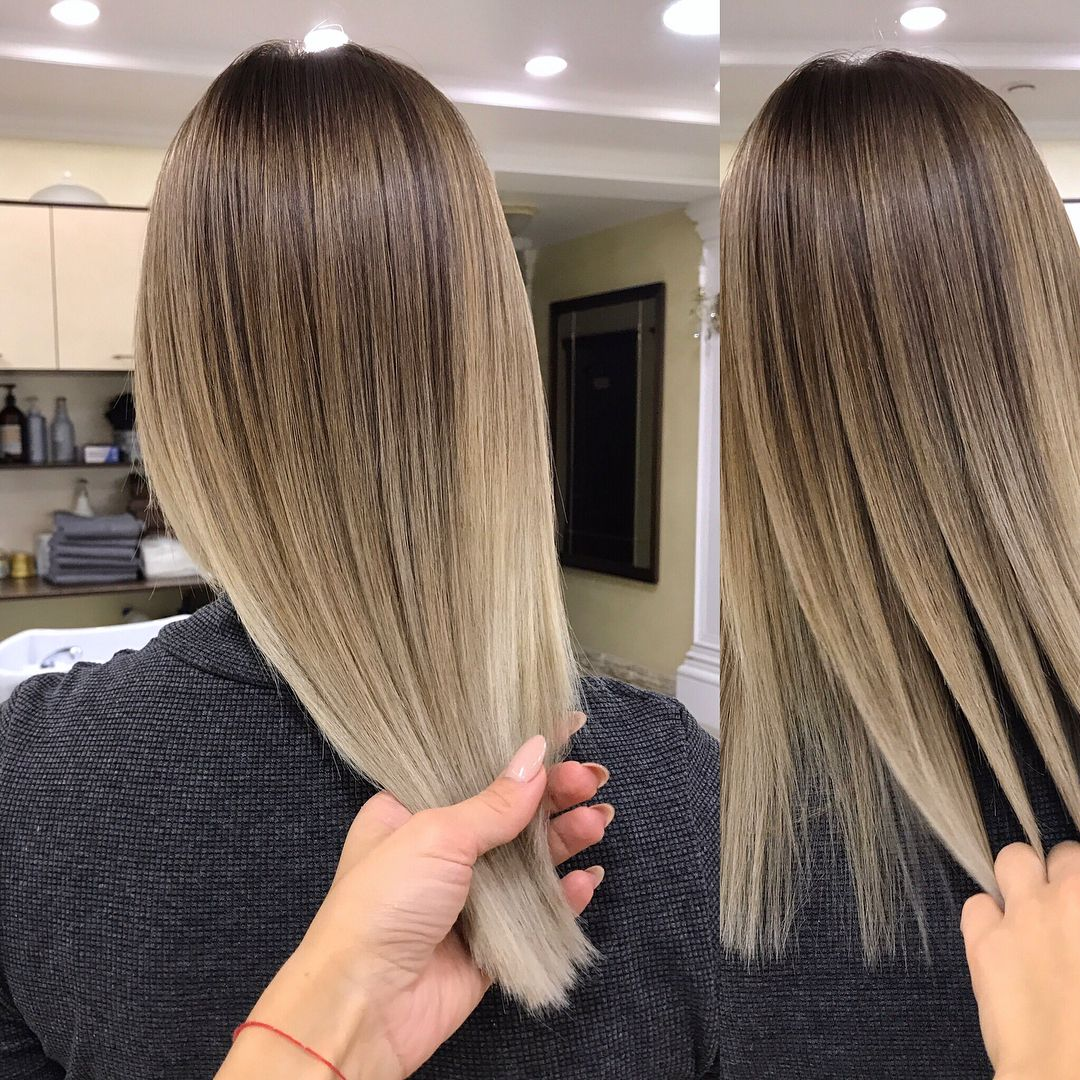 Окрашивание airtouch - мелирование на темных и светлых волосах