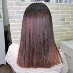 Окрашивание airtouch на темных волосах