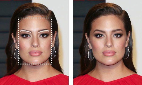Подходящая форма бровей для прямоугольного лица