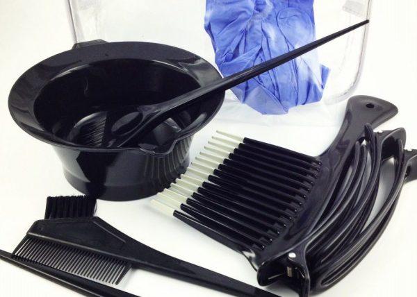 Парикмахерские инструменты для окрашивания волос