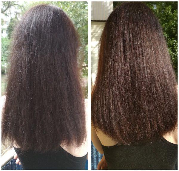 _ЛинDа_ — до и после ламинирования волос желатином