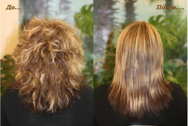 Ламинирование на непослушных волосах