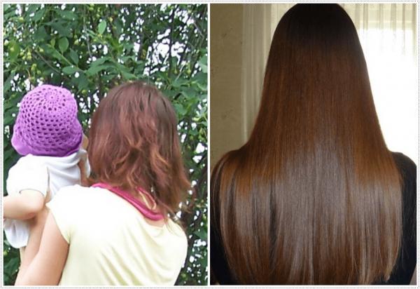 Результат ухода за волосами с помощью масел