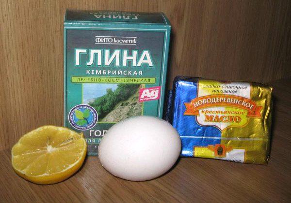 Ингредиенты для приготовления маски для волос с глиной