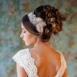 Пучок со свадебным ободком