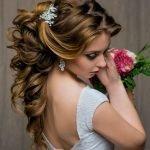 Наполовину собранные волосы