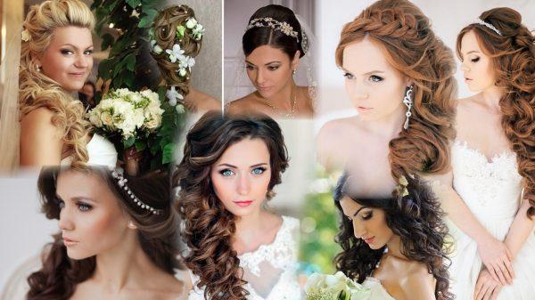 Причёски свадебные