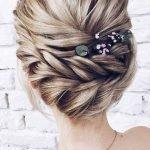 Элегантная причёска с плетением