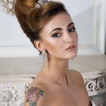 Свадебная причёска ракушка с заколкой
