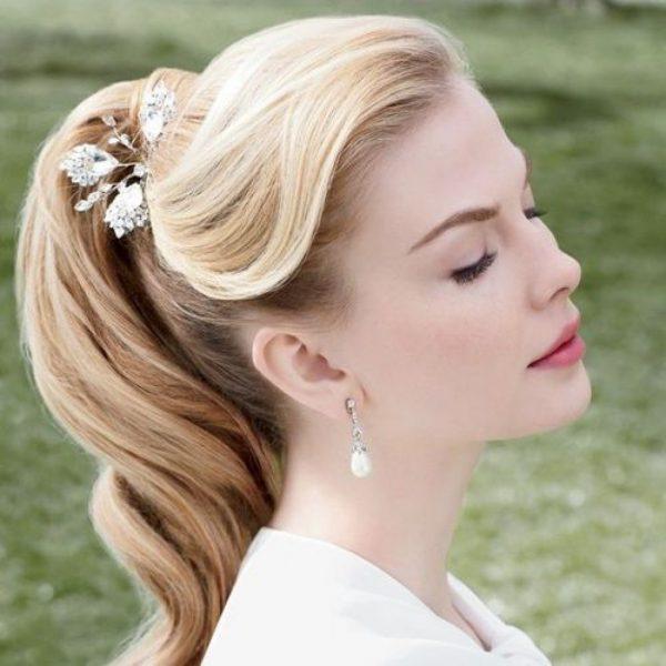 Свадебная причёска с хвостом