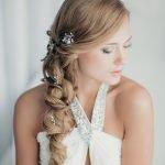 Свадебная причёска с боковым хвостом