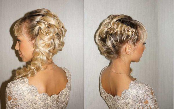 Свадебная причёска с косами