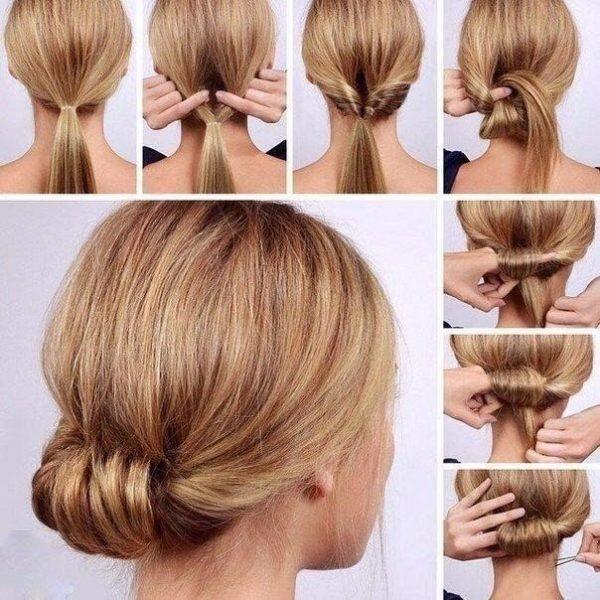 Пошаговая инструкция плетения пучка из волос