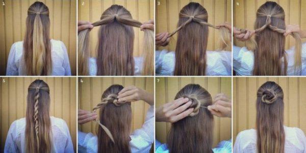 Техника плетения розы из волос