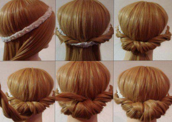 Пошаговая инструкция создания греческой причёски