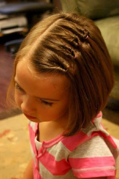 Колосок на короткие волосы