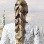 Французская коса на резинке