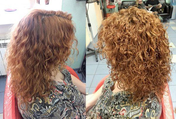 Карвинг на рыжих волосах