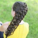 Коса навыворот с вытянутыми прядками