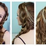Коса с украшением
