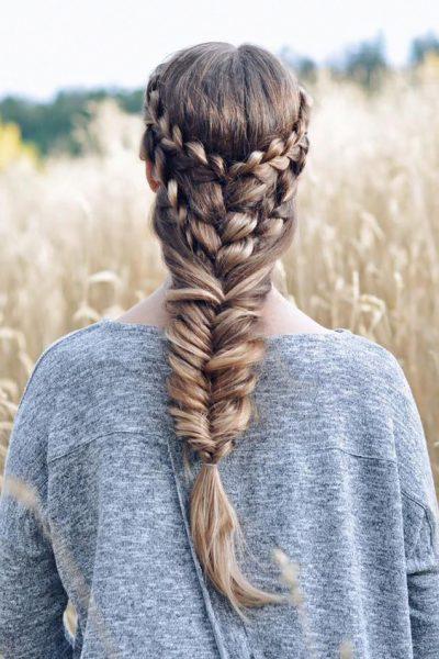 Коса объёмная