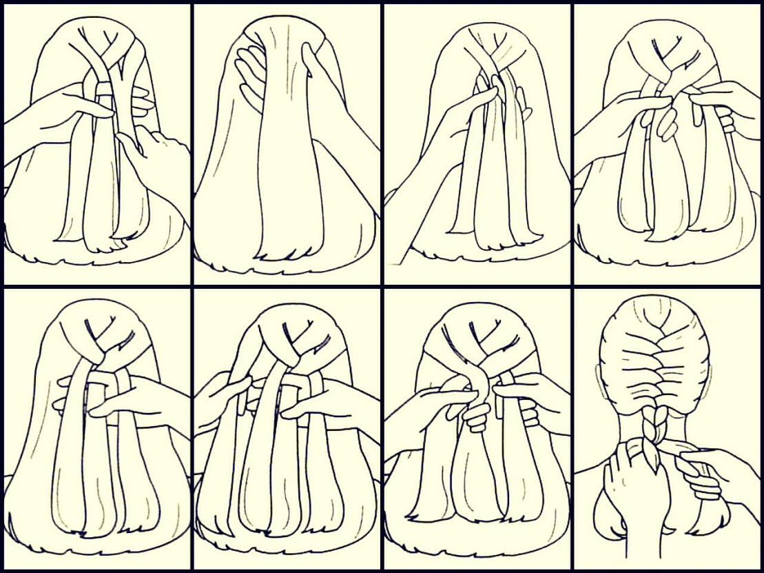 картинки поэтапного плетения коем