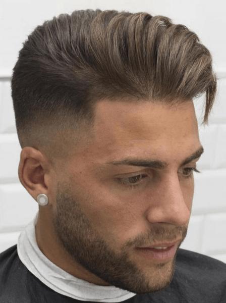 Мужская причёска набок