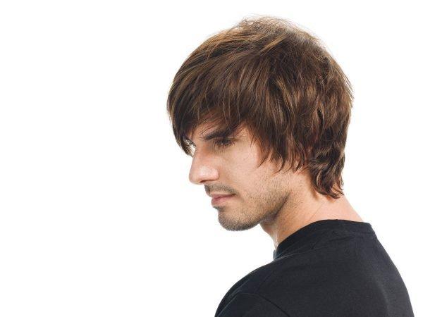 Мужская причёска для треугольного лица