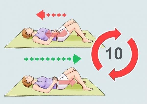 Выполнение упражнения «лифт»