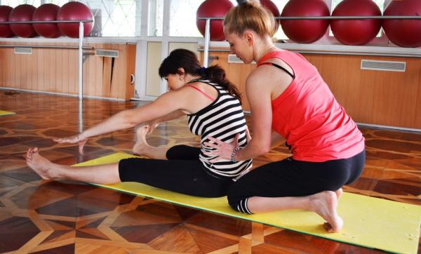 Упражнение «Лодка» с инструктором