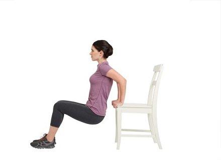 Отжимание от стула