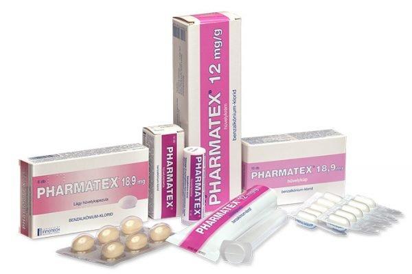 Спермицидные препараты Pharmatex