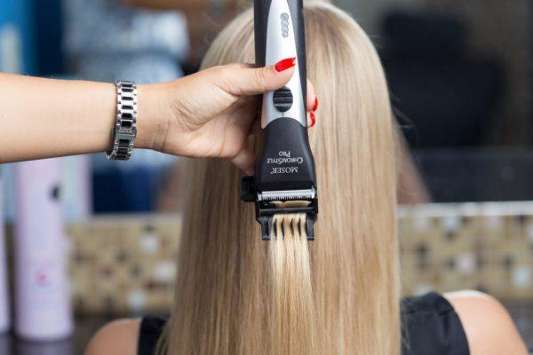 Процедура полировки волос