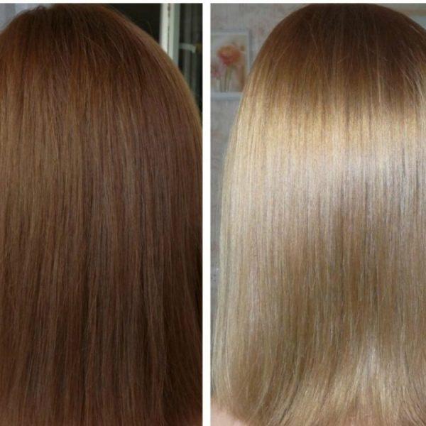 Результат использования смывки Color Off от Estel