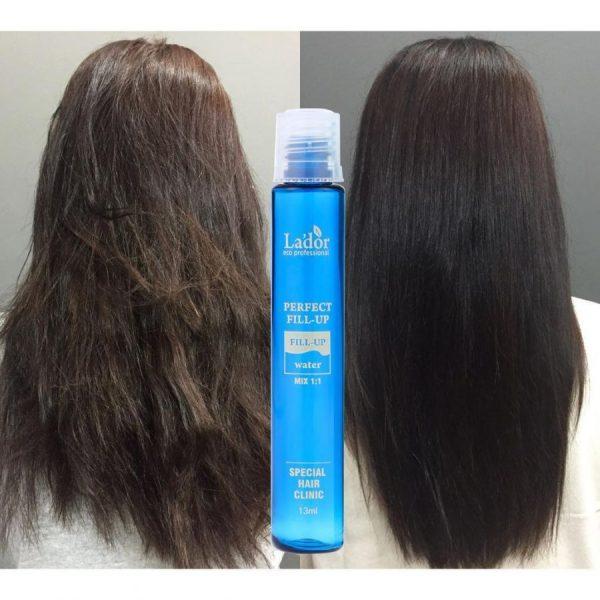 Результаты применения филлера La'dor Perfect Hair Filler