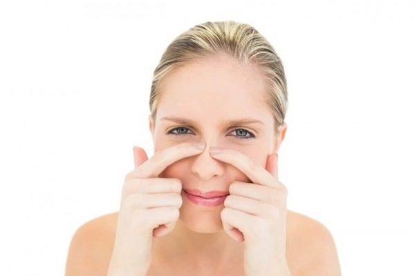 Удаление чёрных точек на носу
