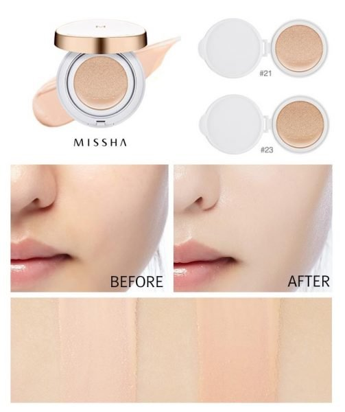 Оттенки кушона M Magic Cushion Moisture от Missha