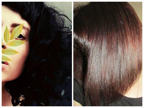 Кудрявые волосы до и после процедуры нанопластики