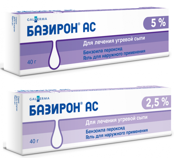 Базирон АС гели 2,5% и 5%