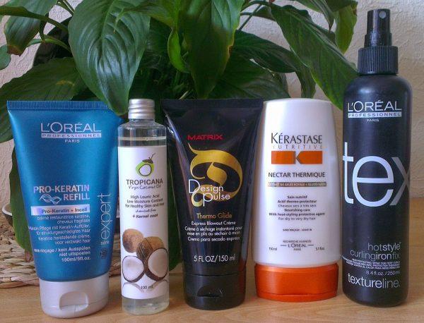 Термозащитные средства для волос