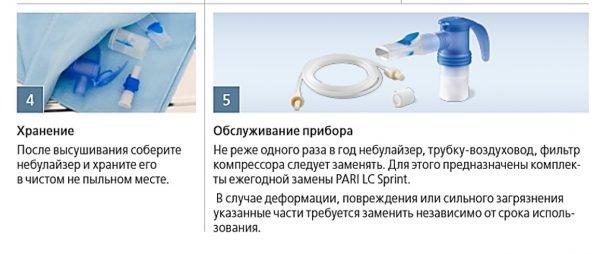 Инструкция по использованию небулайзера