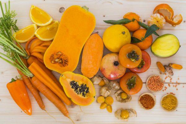 Овощи и фрукты с каротином