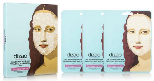 Dizao Необыкновенная пузырьковая маска для лица «Кислород и уголь»