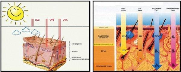 Длины волн ультрафиолетового спектра