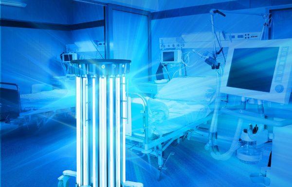 Кварцевая лампа в больничной палате