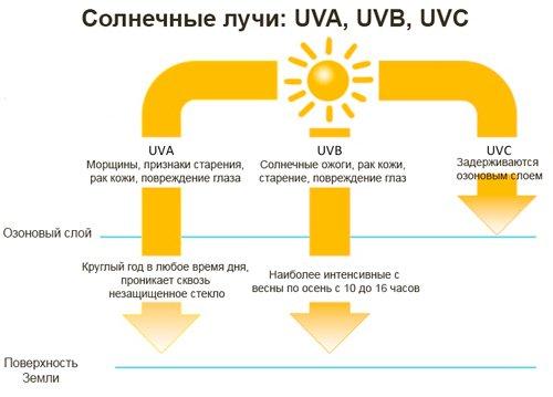 Типы ультрафиолетового излучения